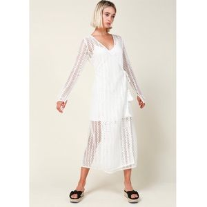 Line and Dot Zurie dress woven beach cover up
